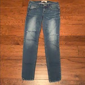 Hollister slit jeans